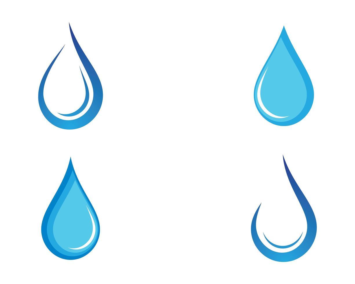 icono de gota de agua azul vector