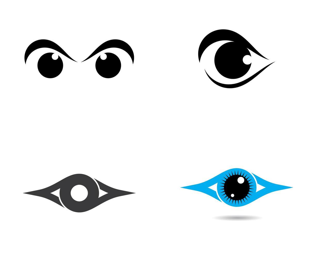 Eye Symbol Logo Set vector