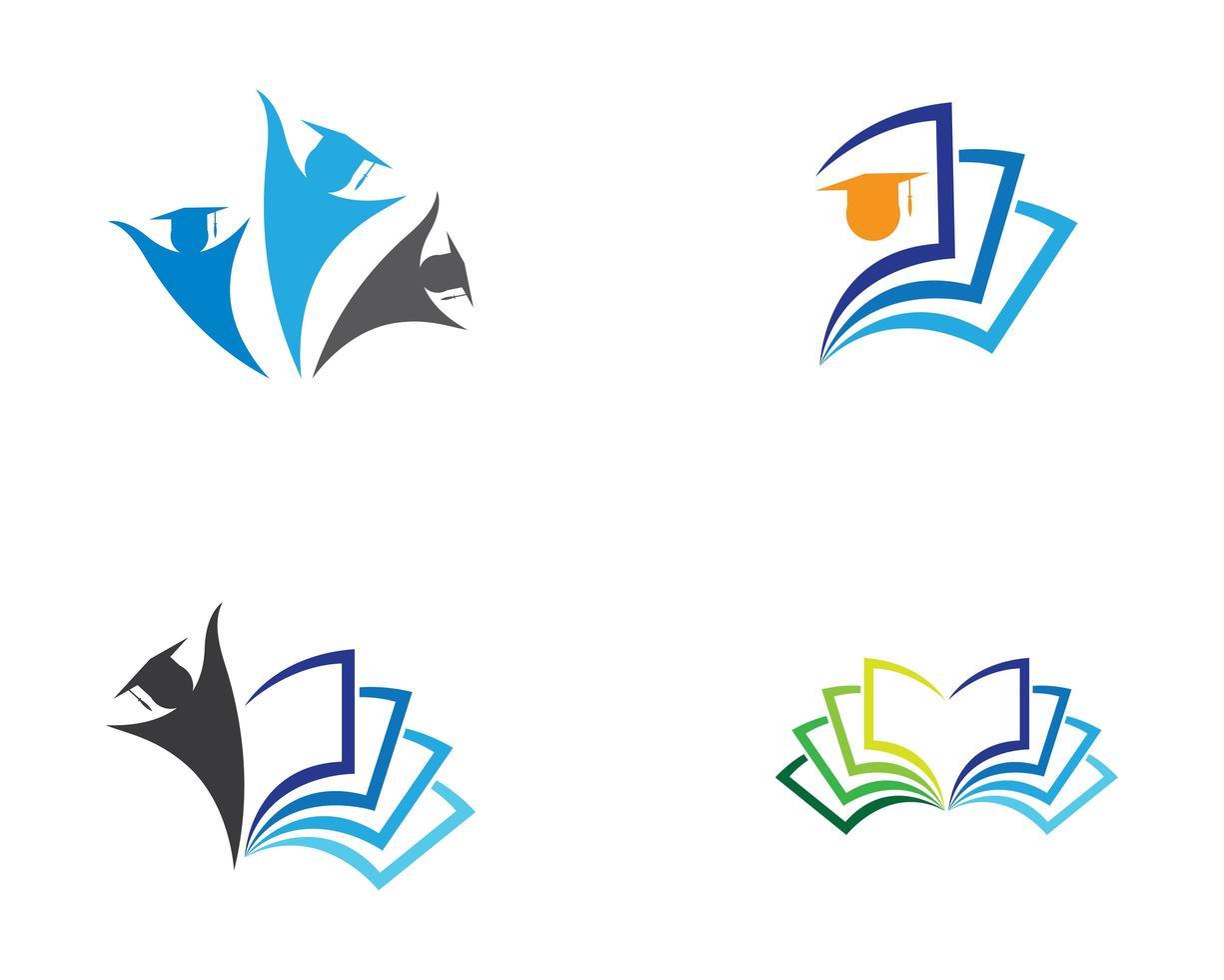 Education Symbol Icons Set vector