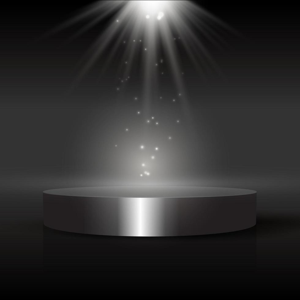 pantalla oscura con podio vector