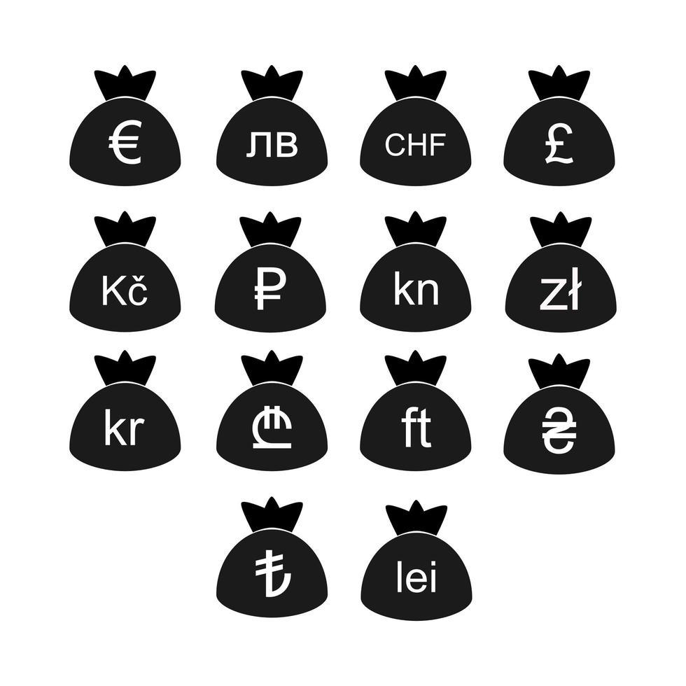 europese valutasymbolen vector