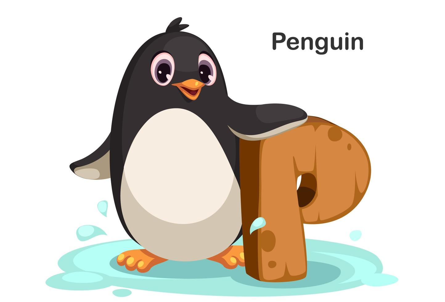 P for Penguin vector