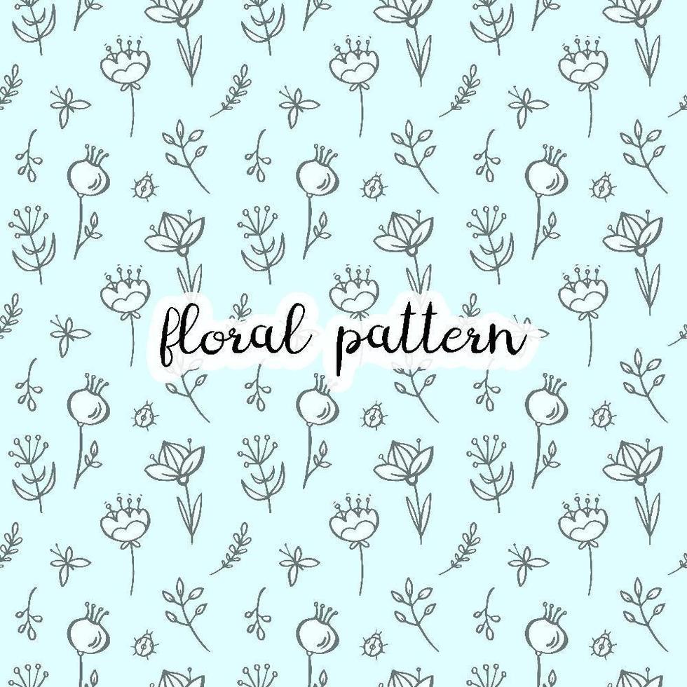modèle sans couture floral doodle vecteur