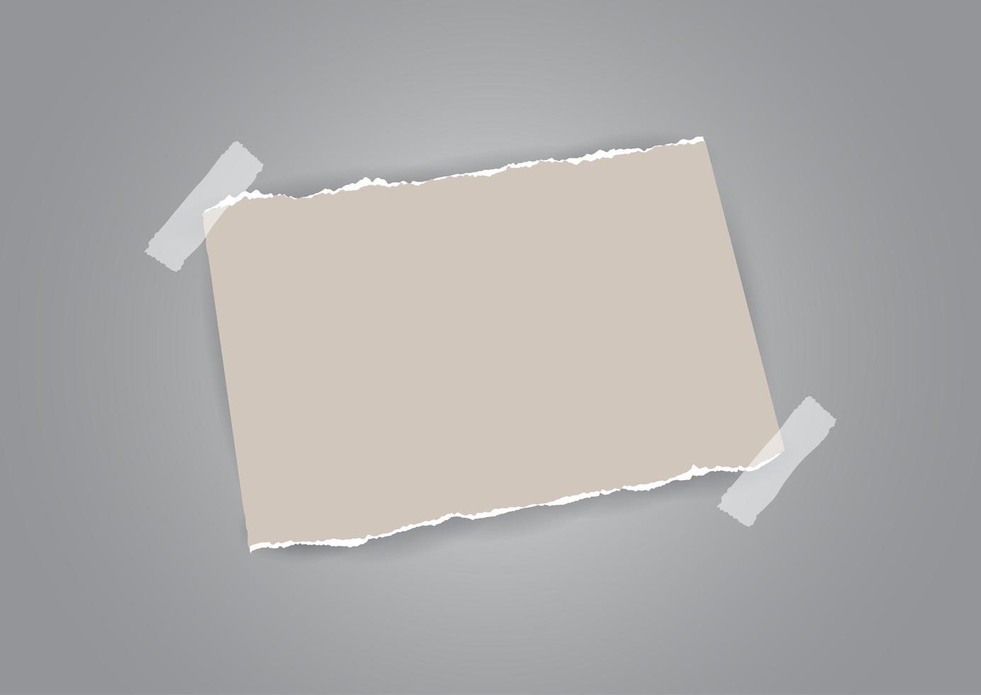 papel rasgado e fita adesiva vetor