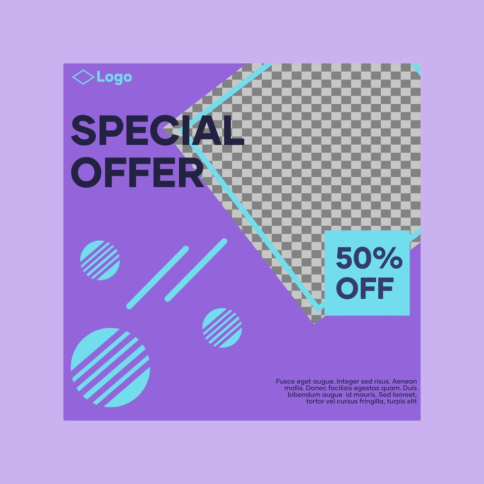 Special Offer Social Media Post vector