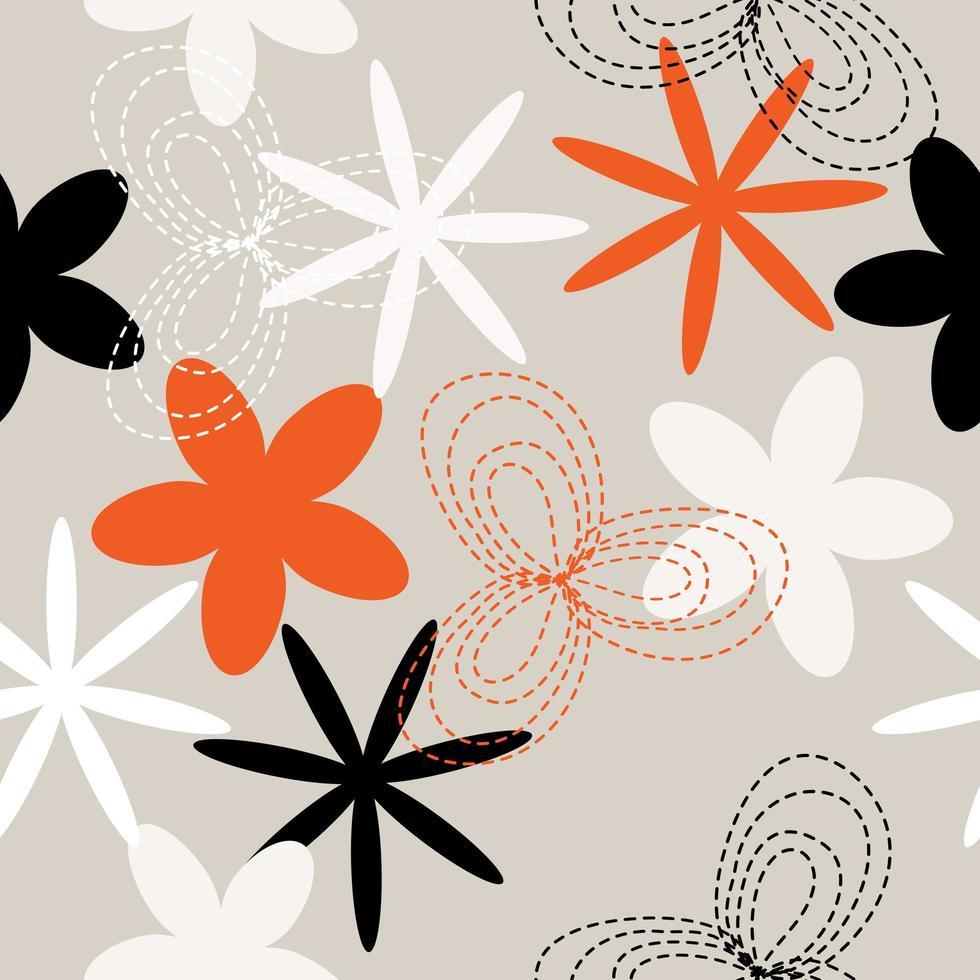 bordado de flores vetor