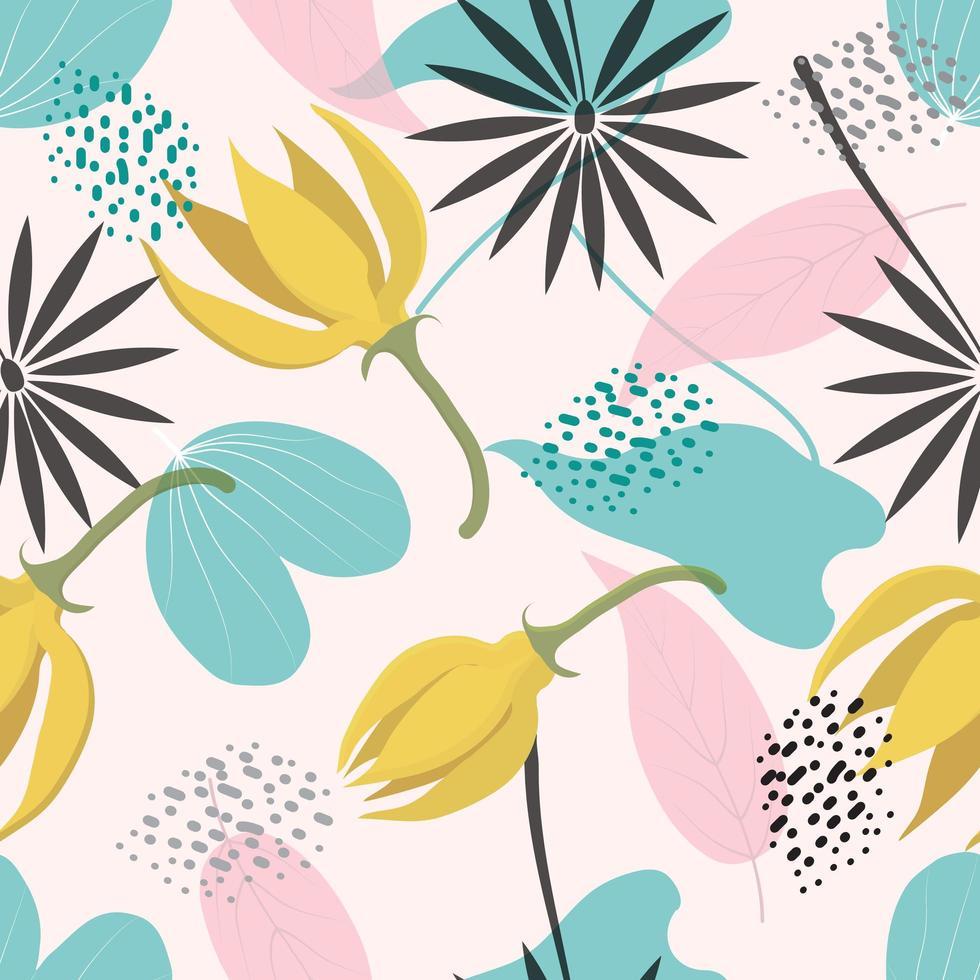 motif floral tropical vecteur