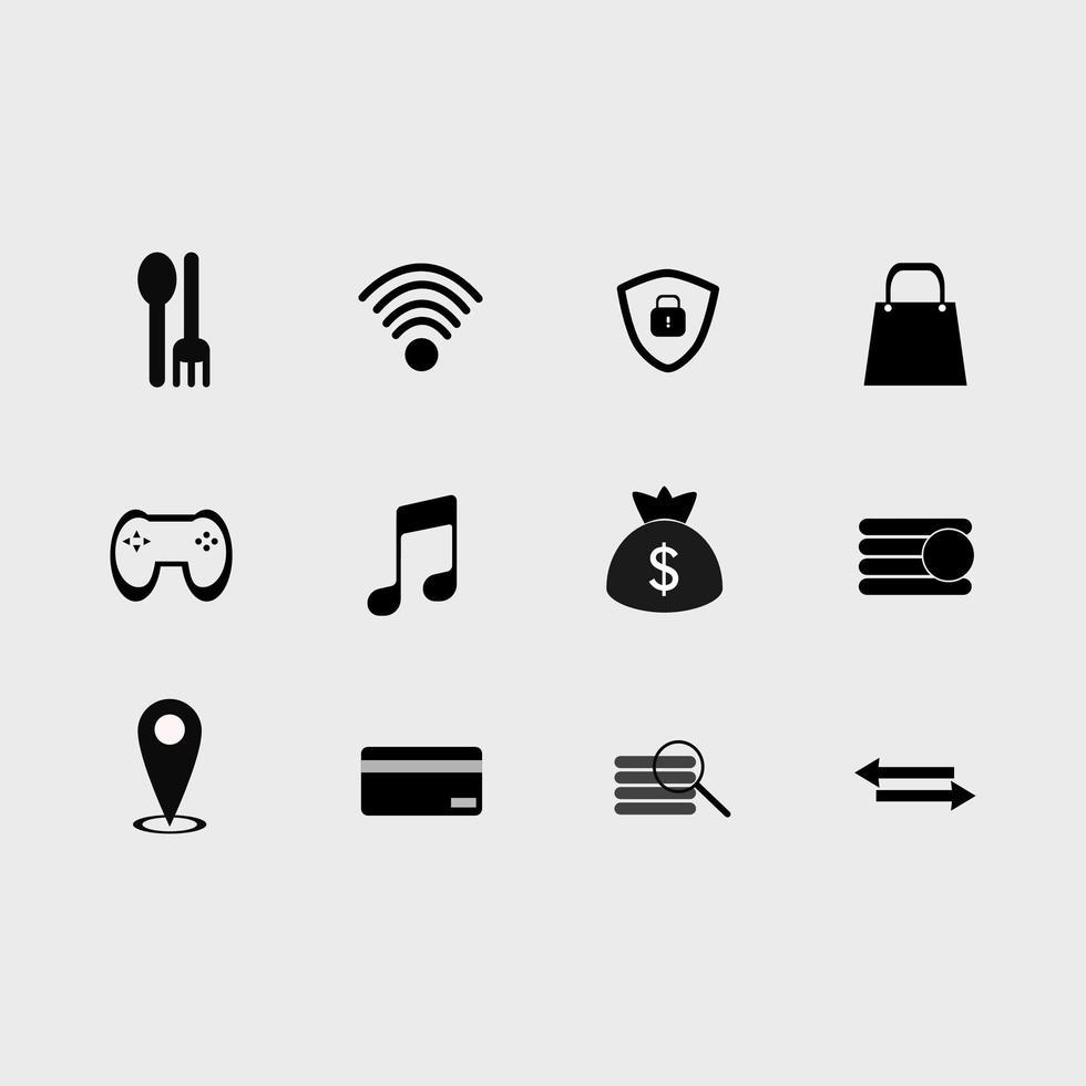 conjunto de ícones de utilitários vetor
