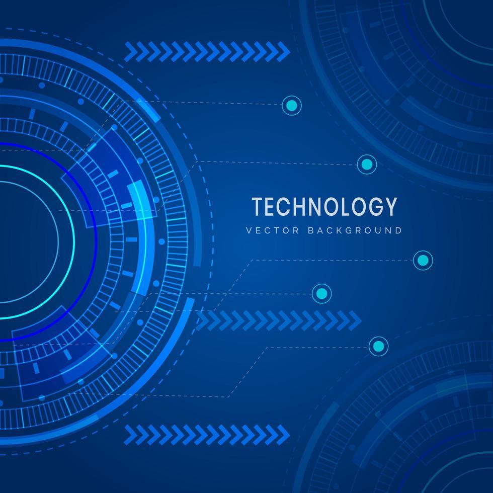 fond géométrique futuriste de technologie vecteur