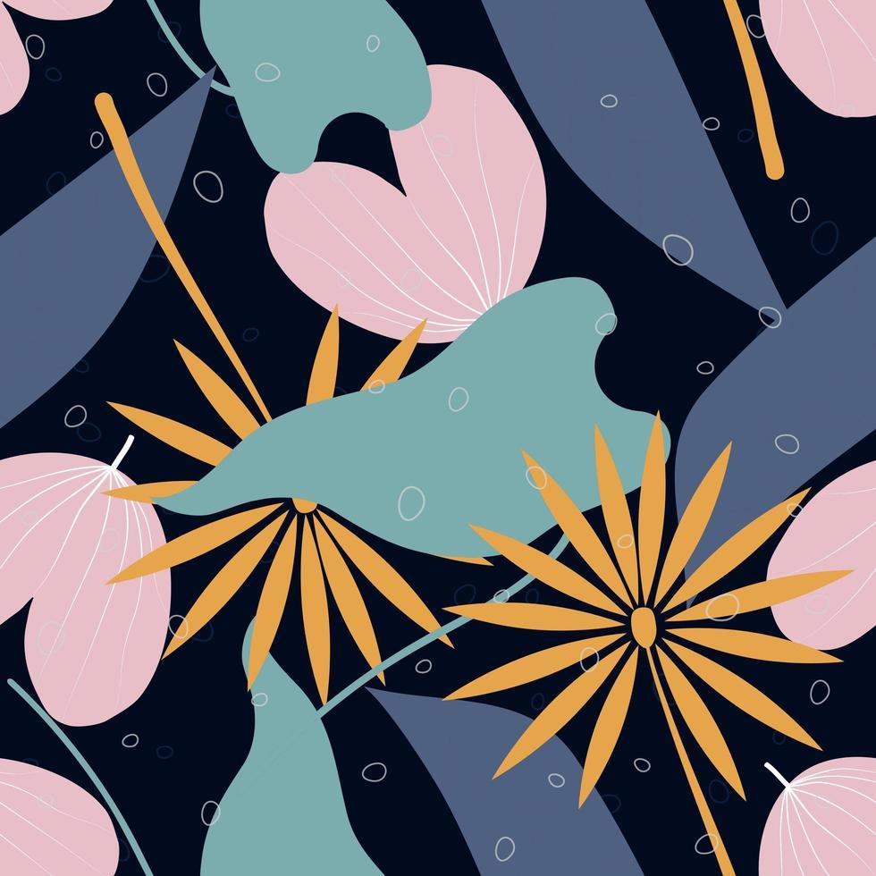 grand motif floral vecteur
