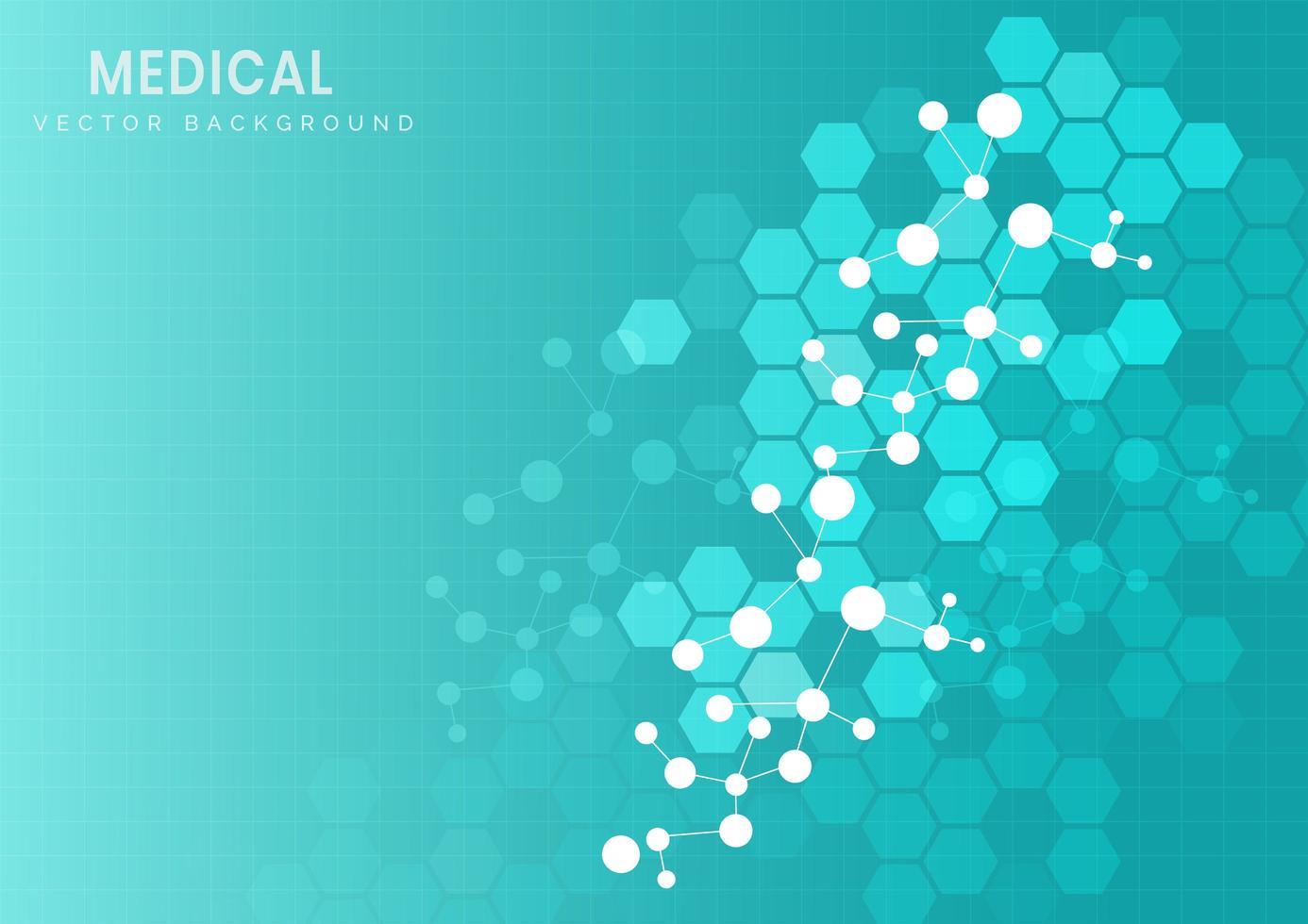 structure moléculaire sur fond bleu clair vecteur