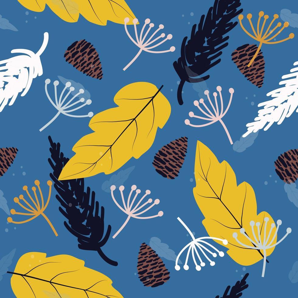 automne dessiné à la main vecteur