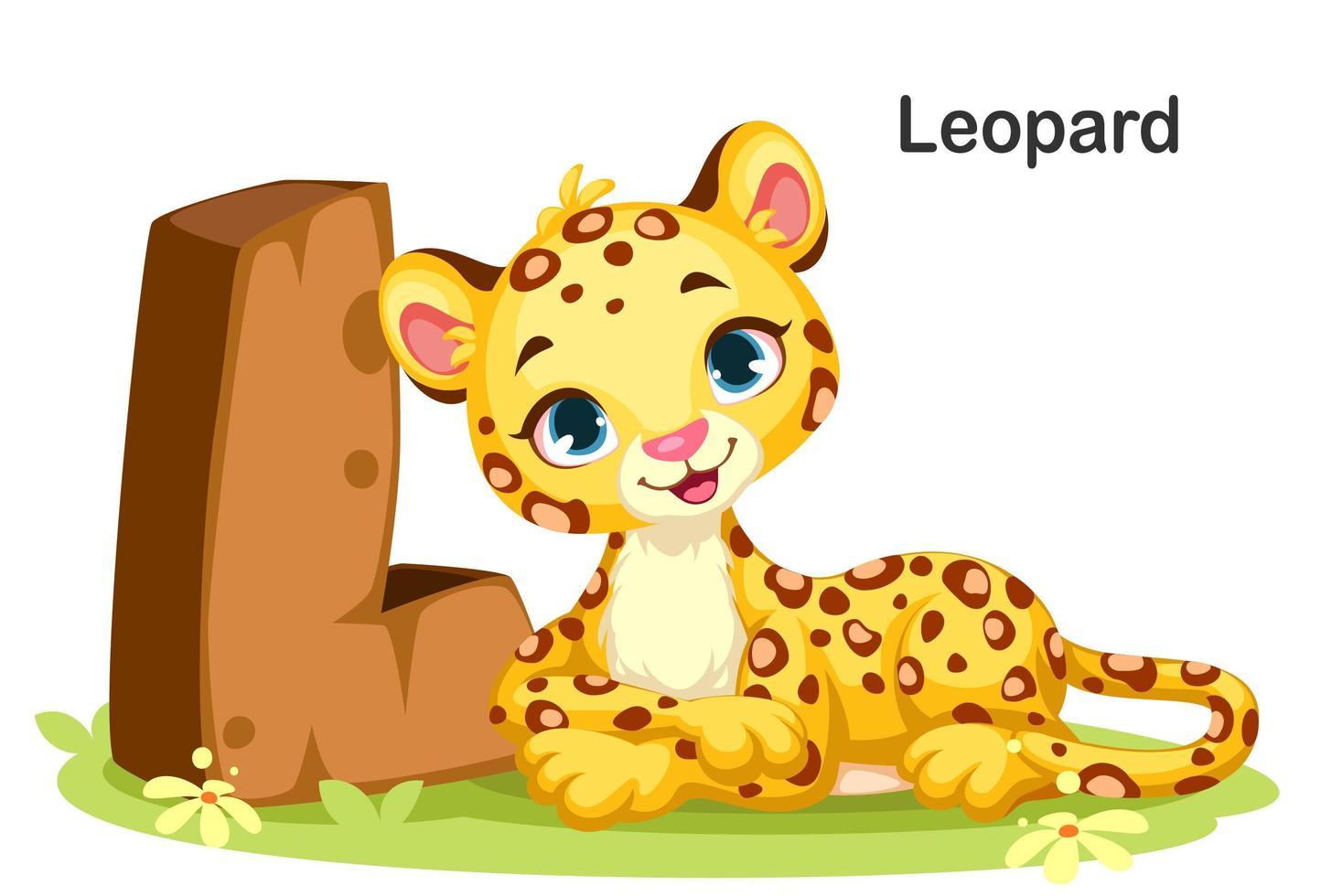 l pour le léopard vecteur