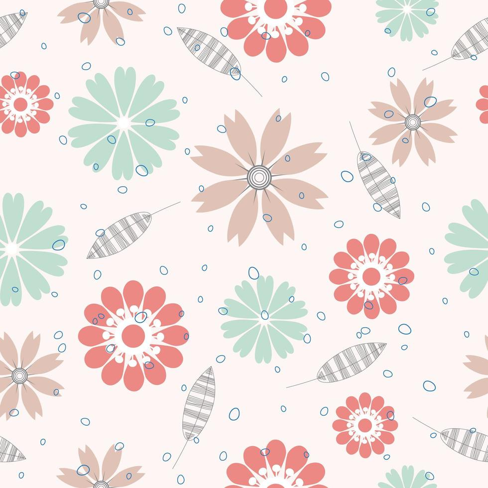 bloem oppervlaktepatroon vector