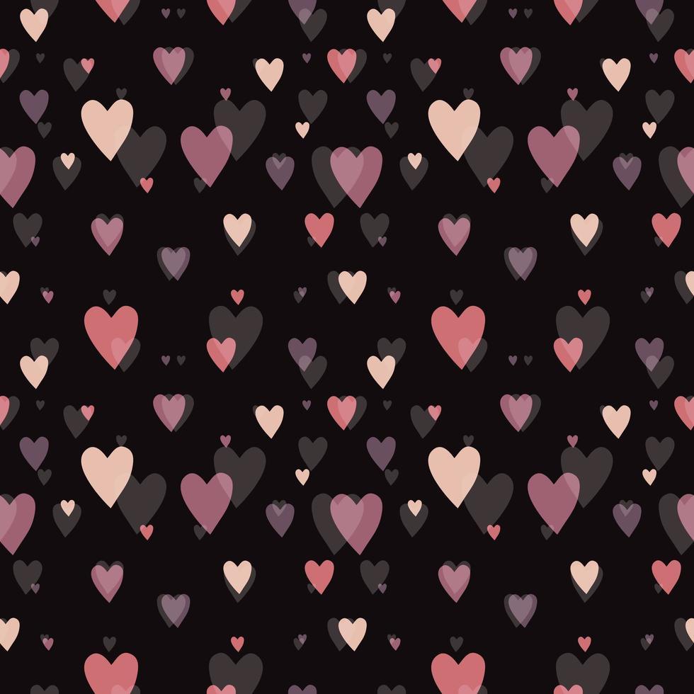 precioso patrón de corazón rosa vector