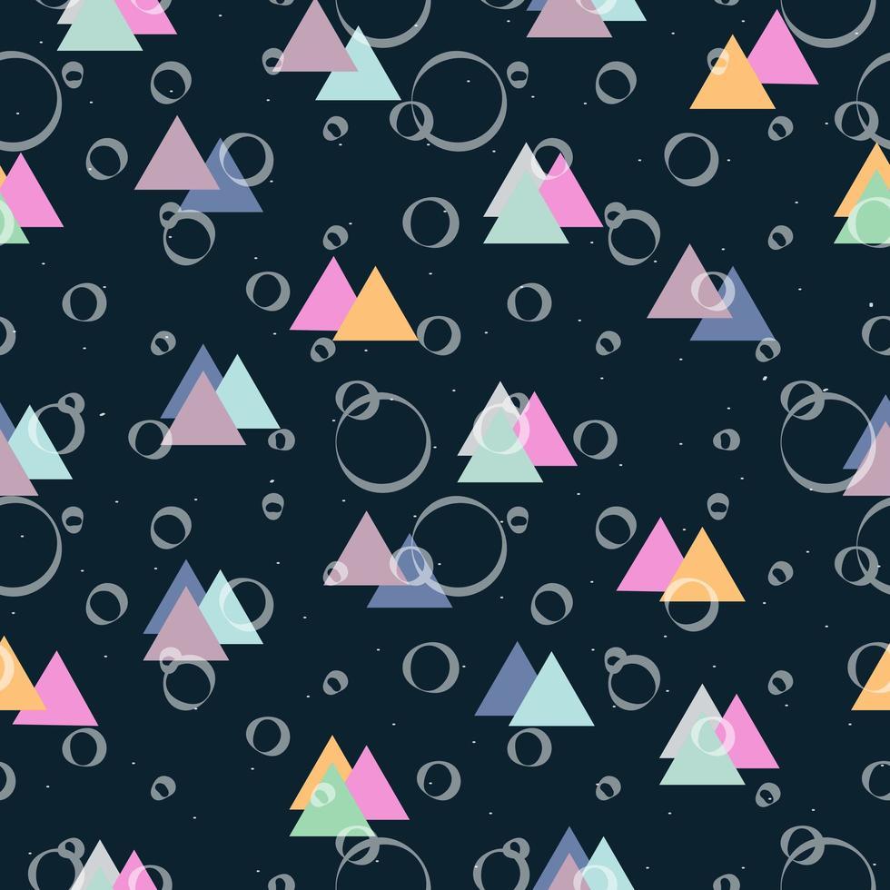 triangle et cercles pastel vecteur