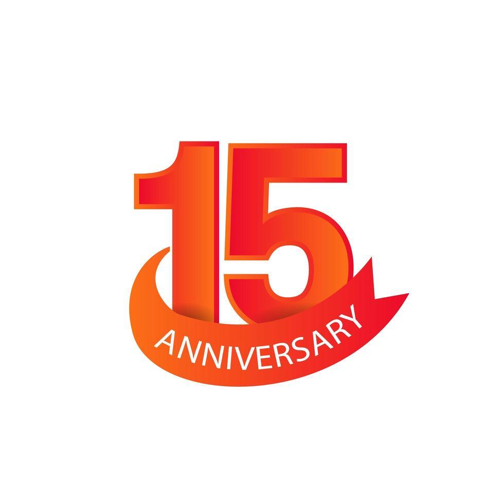moderne `` 15 anniversaire '' pour une fête d'entreprise vecteur