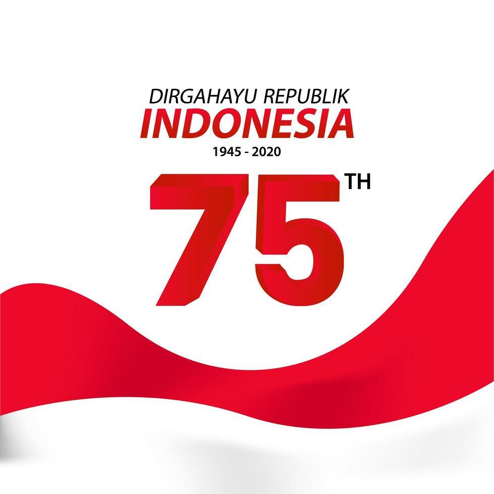 carte de voeux de la fête de l'indépendance de l'indonésie vecteur
