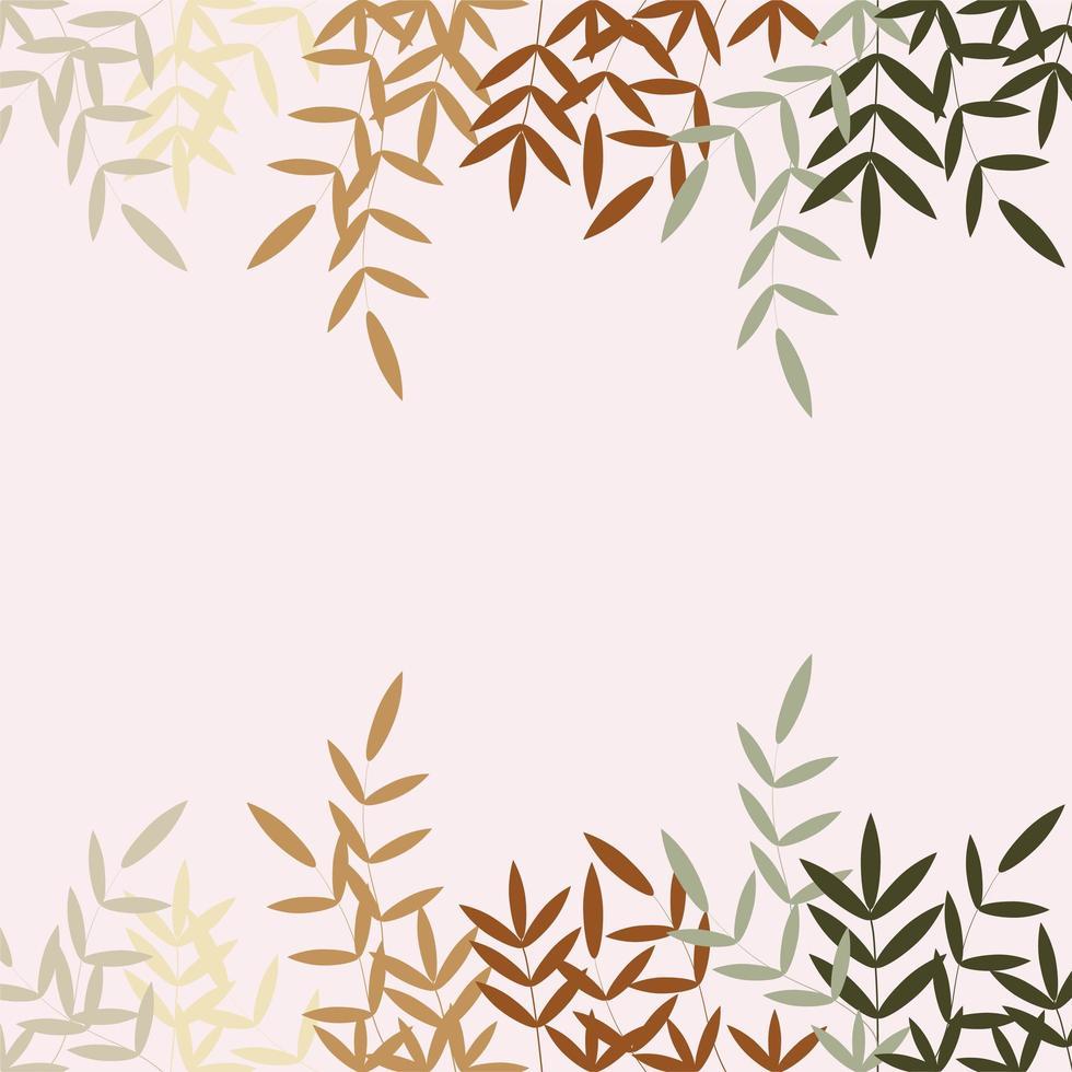 diverses feuilles colorées en automne vecteur