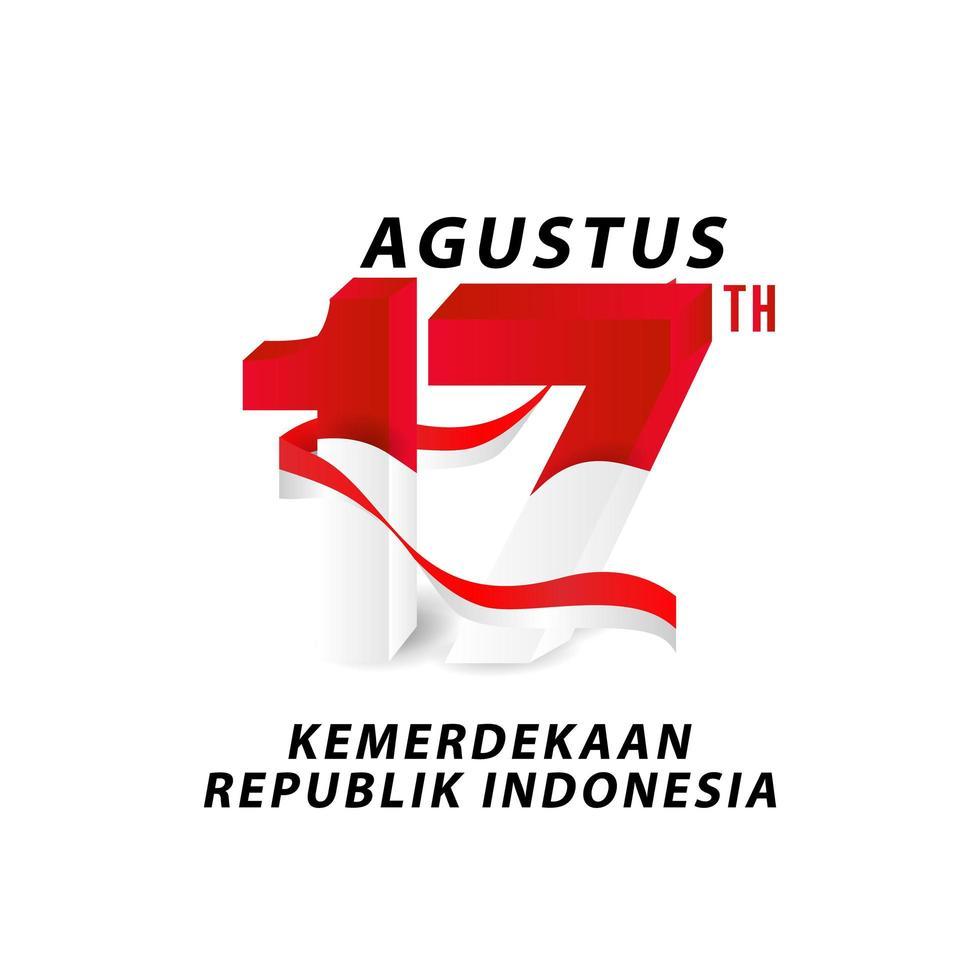 17 août bannière de la fête de l'indépendance de l'indonésie vecteur