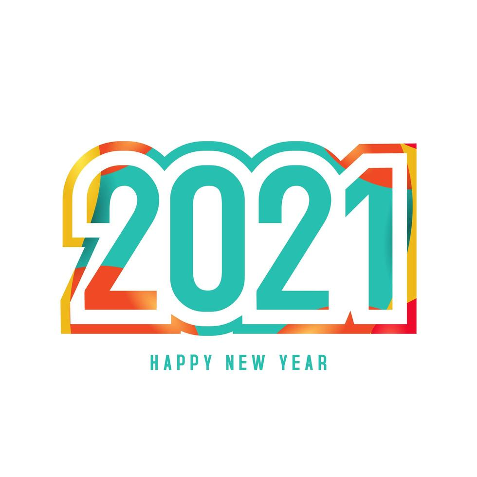 Colorful Happy New Year 2022 Background Download