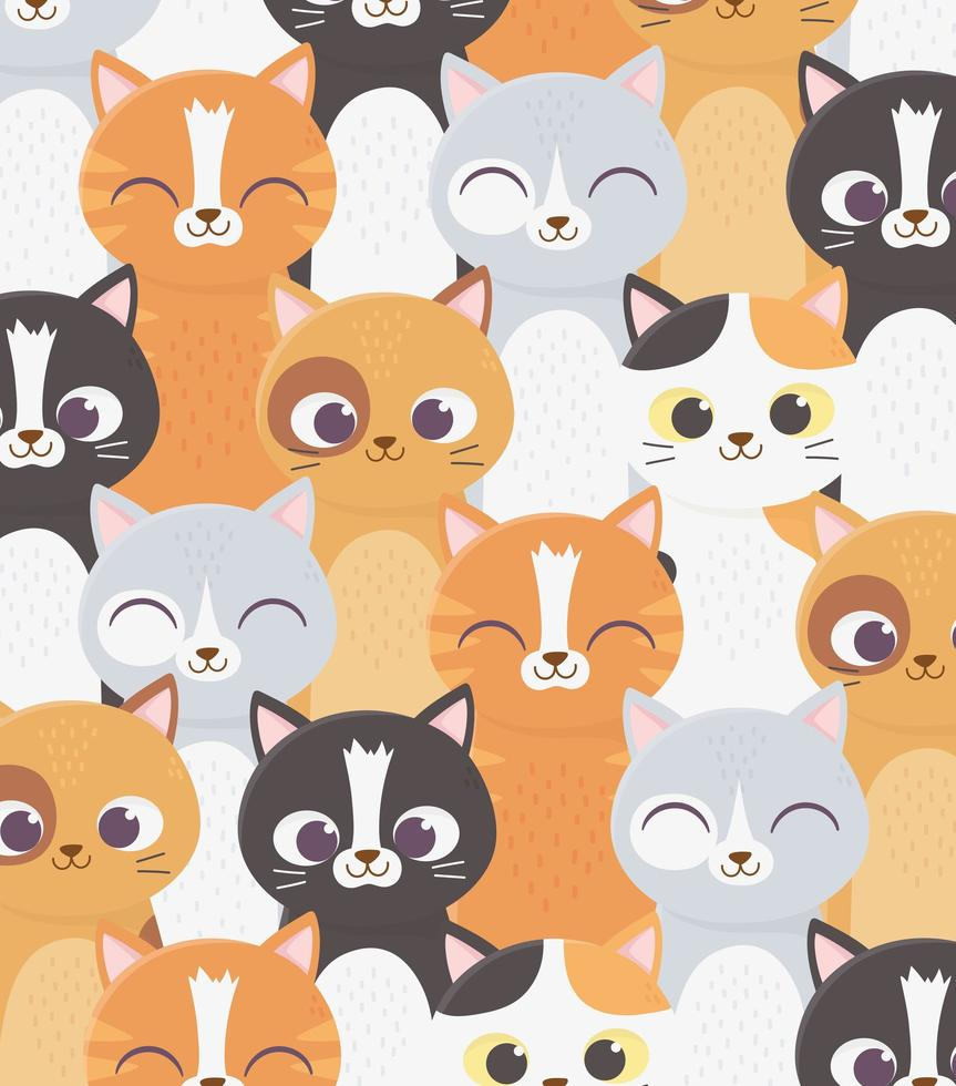 Cats pattern background vector