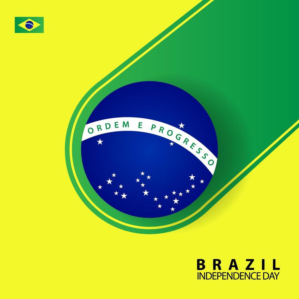 carte de voeux de la fête de l'indépendance du brésil vecteur