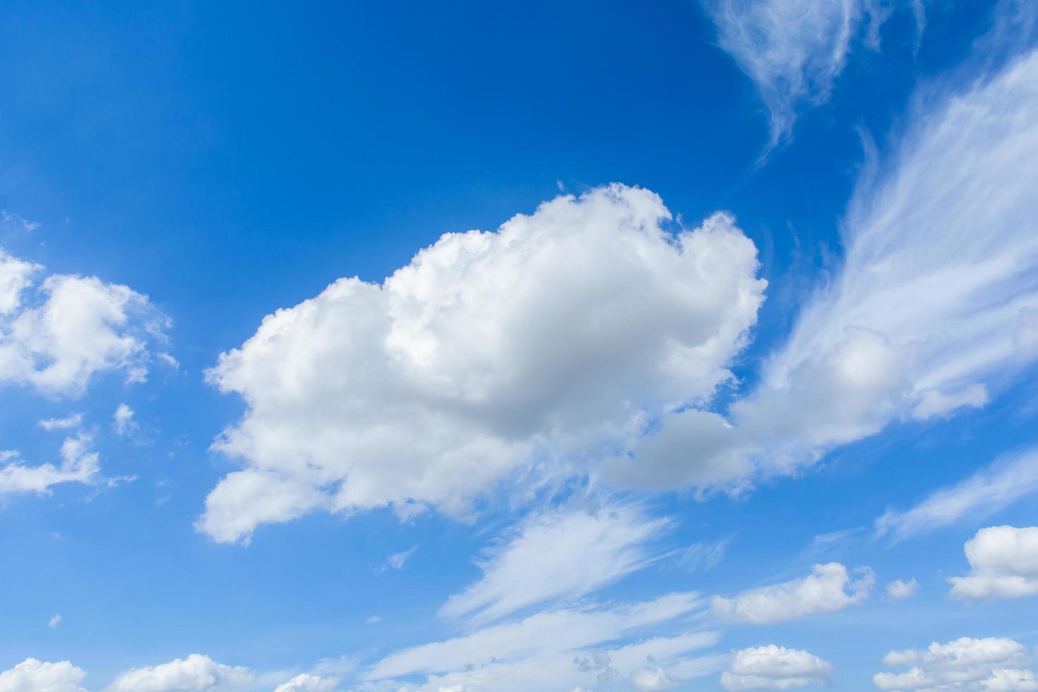 Cirrus and cumulus clouds  photo
