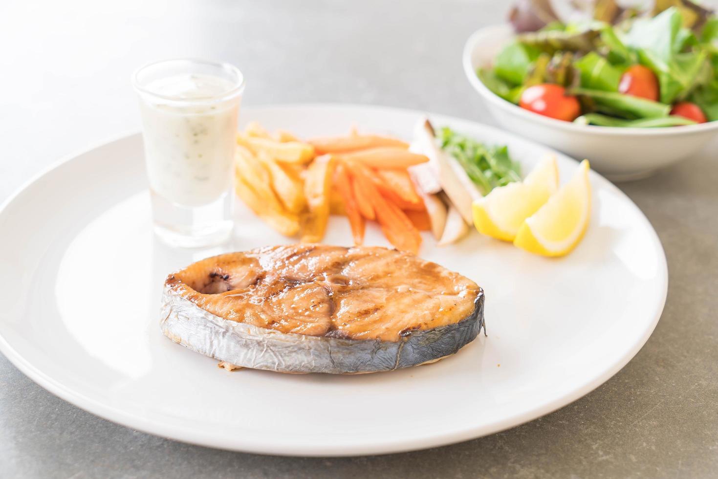 Mackerel fish steak photo