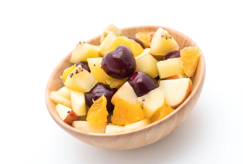 Mixed sliced fruit photo