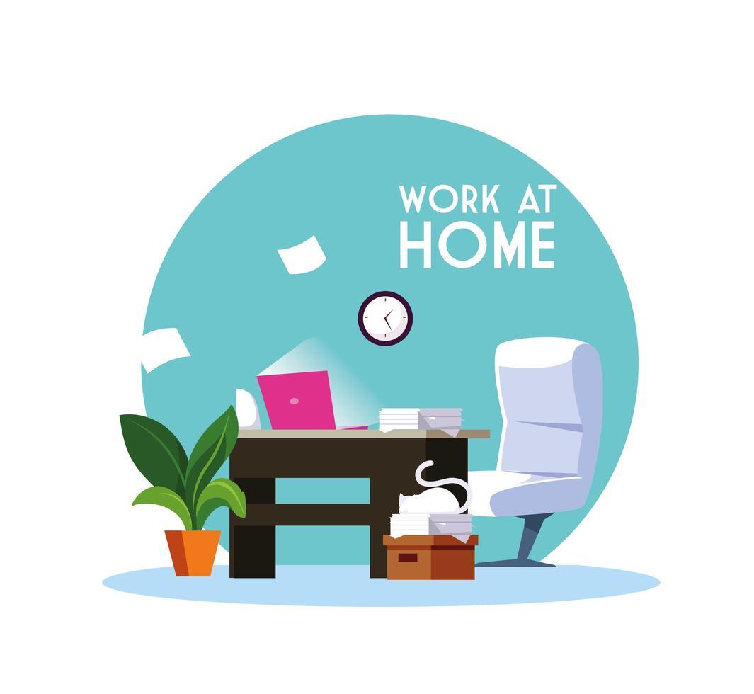 travail à domicile vecteur