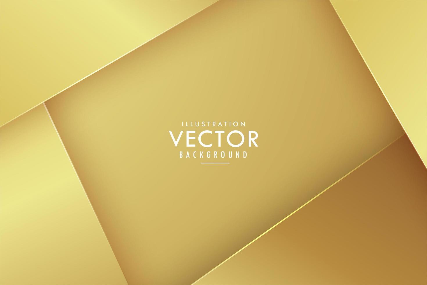 couches angulaires superposées dorées vecteur