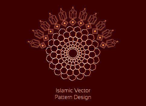 modèle islamique biomorphique moderne vecteur