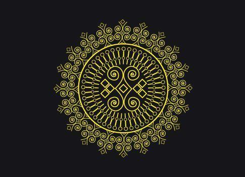 persiano mandala floreale doodle cerchio design pattern vettore