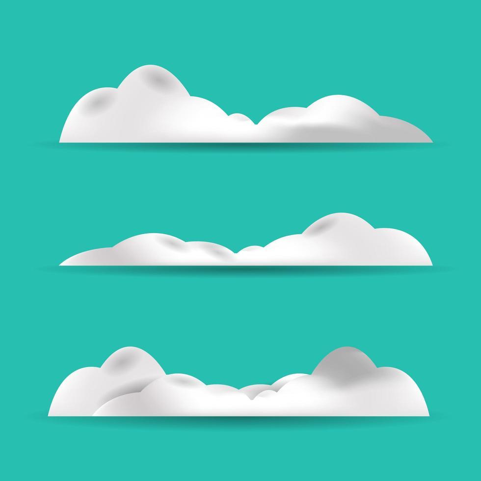 nuages blancs sur fond bleu vecteur