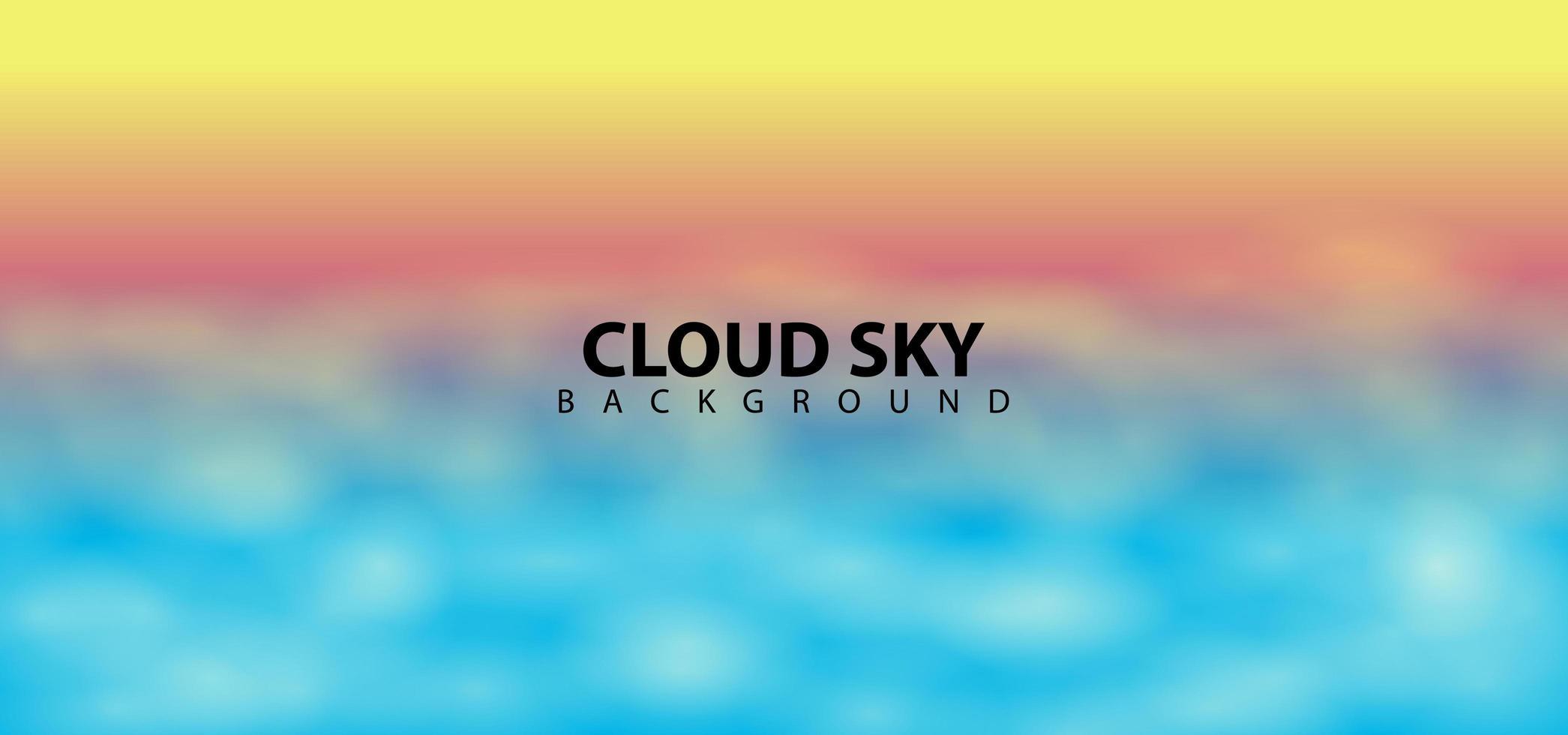 modèle de fond de conception de ciel nuage flou vecteur