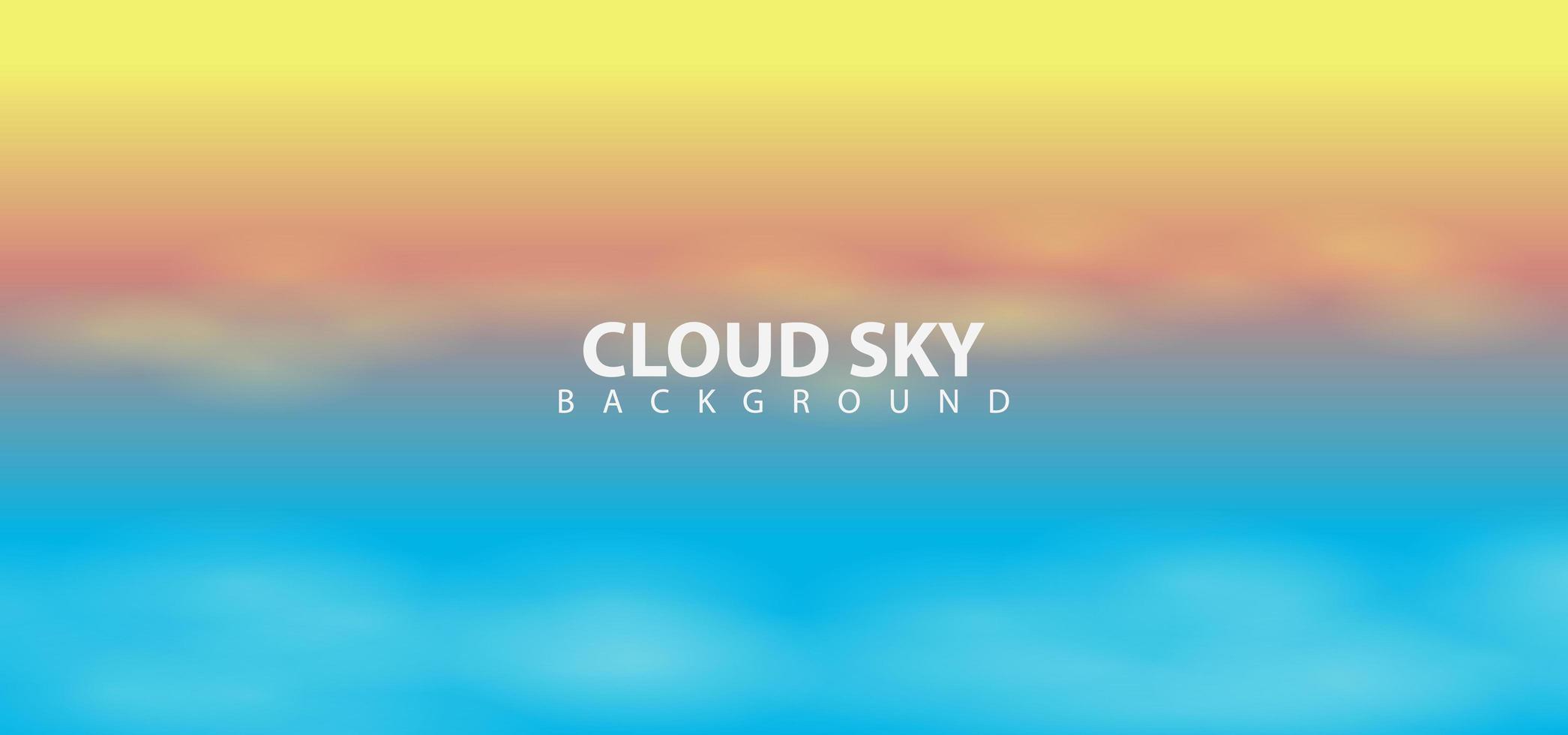 modèle de fond de ciel nuages conception coucher de soleil vecteur