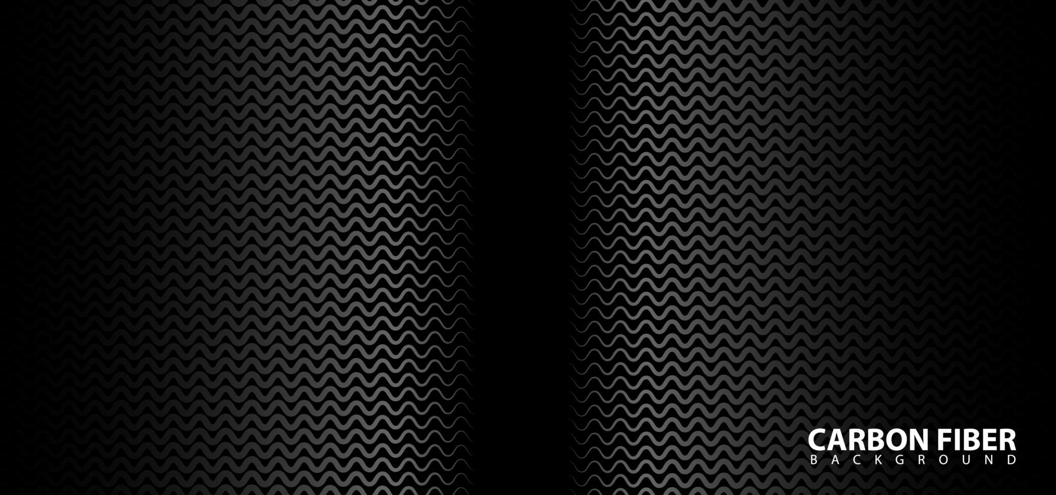 design in fibra di carbonio su sfondo nero vettore