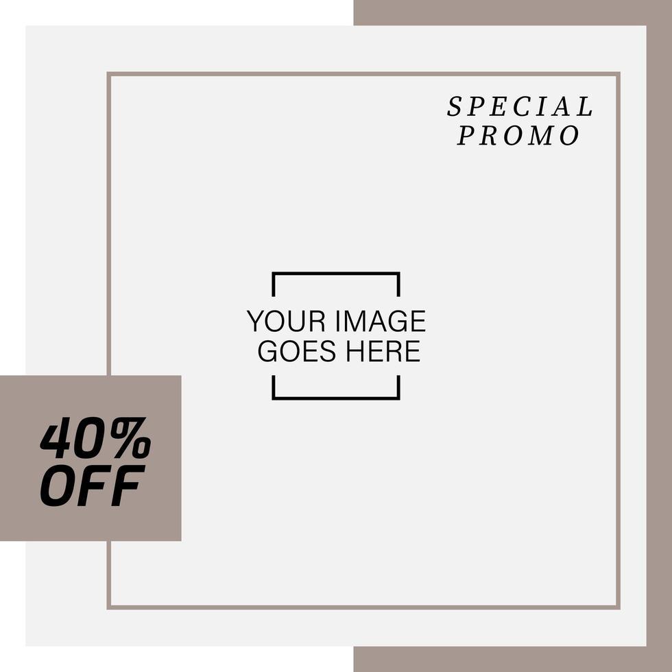 modello di banner quadrato di social media di moda per la vendita al dettaglio vettore