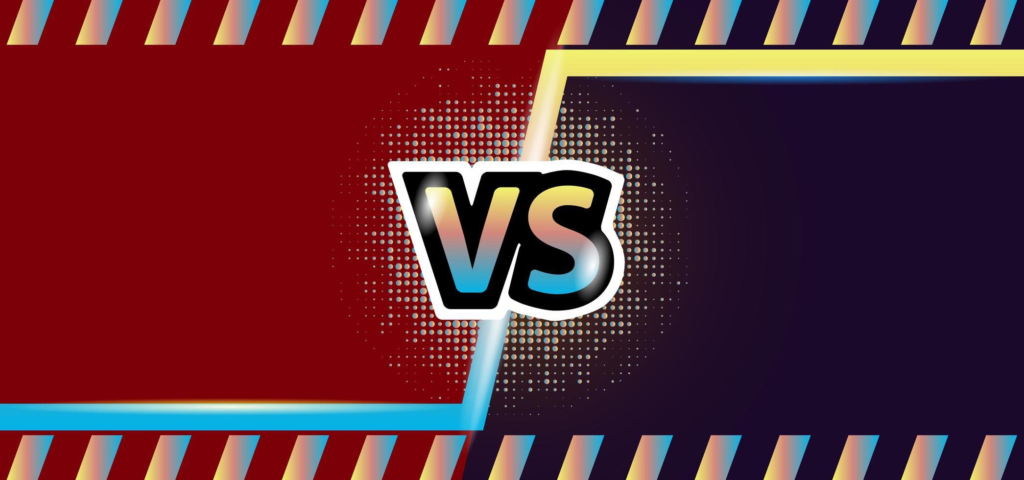 frame ontwerp schermweergave versus achtergrondsjabloon vector