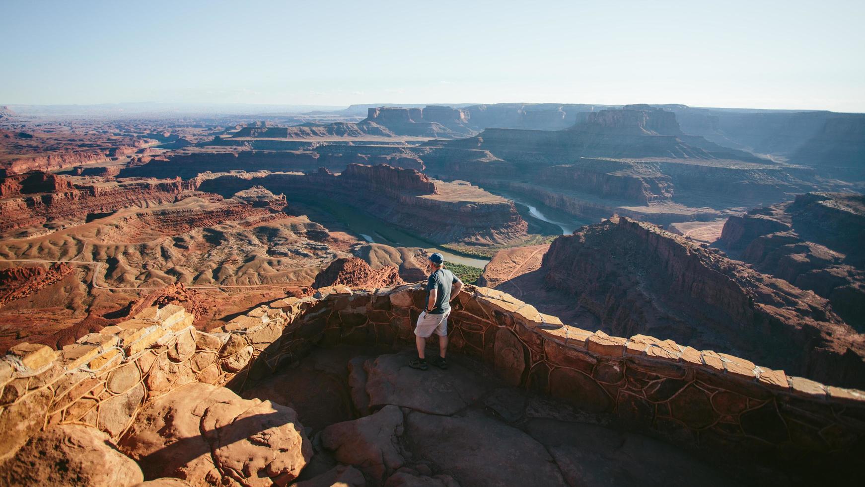 Man overlooking Grand Canyon photo