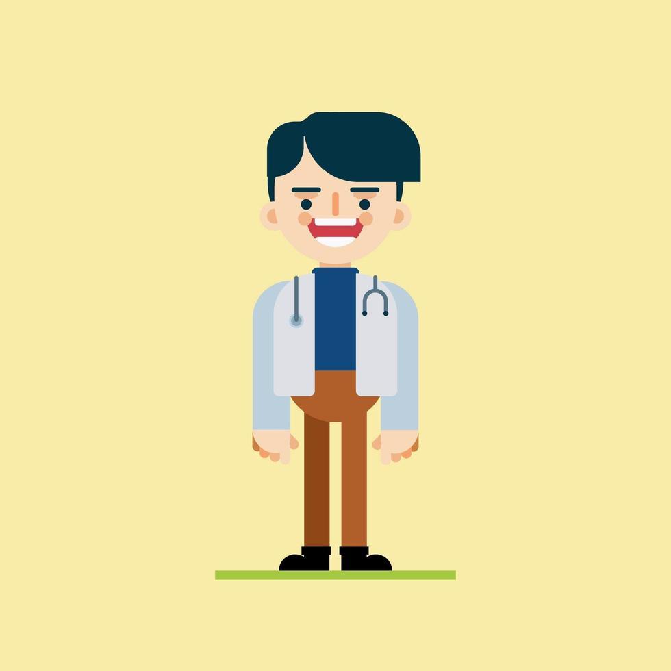 carattere medico felice vettore