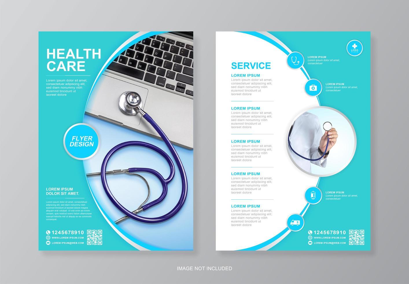 progettazione di volantini sanitari e medici aziendali per la stampa vettore