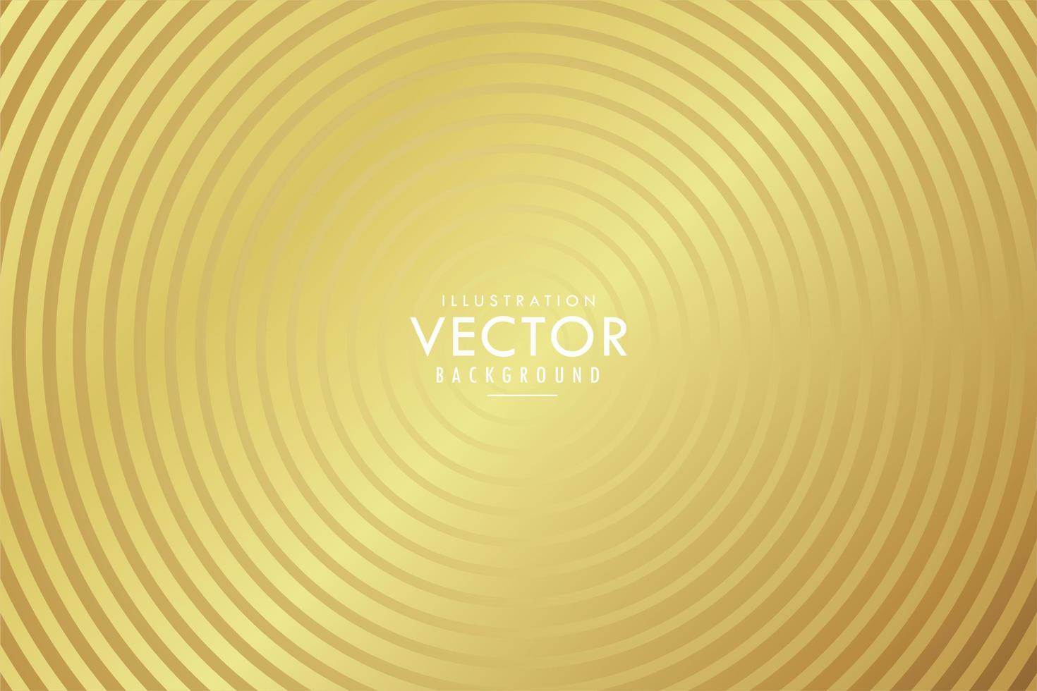 cercles d'or concentriques vecteur