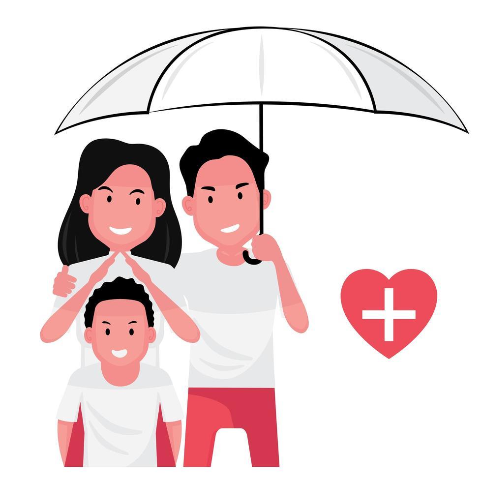 Family life insurance  vector