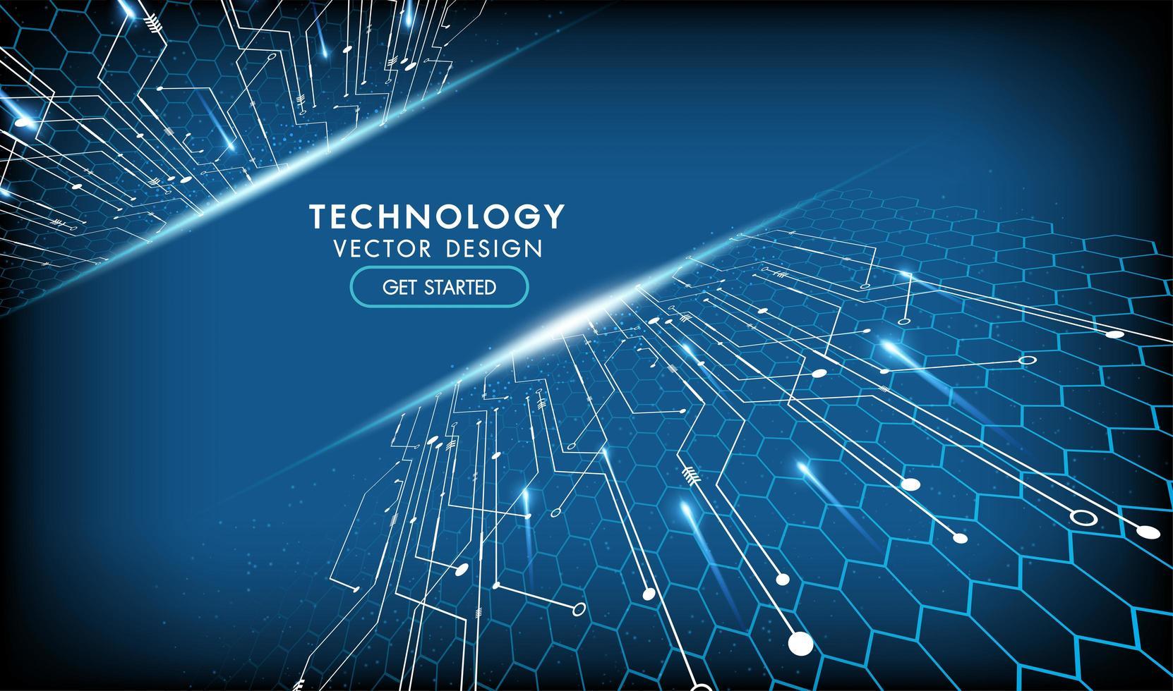 concept de communication hi-tech conception de technologie abstraite vecteur