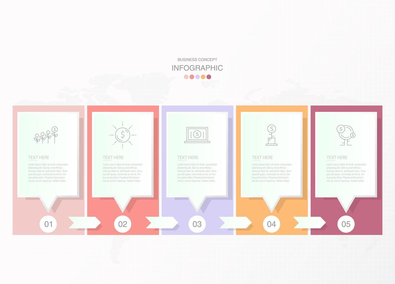 nuvoletta pastello in infografica rettangolo vettore