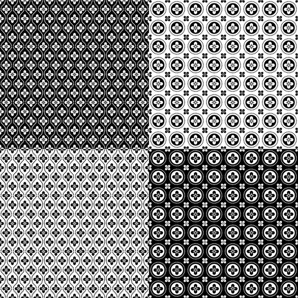patrones geométricos inconsútiles retro vector