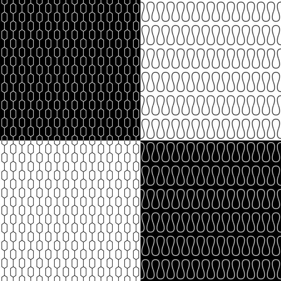 conjunto de padrões retro sem costura vetor