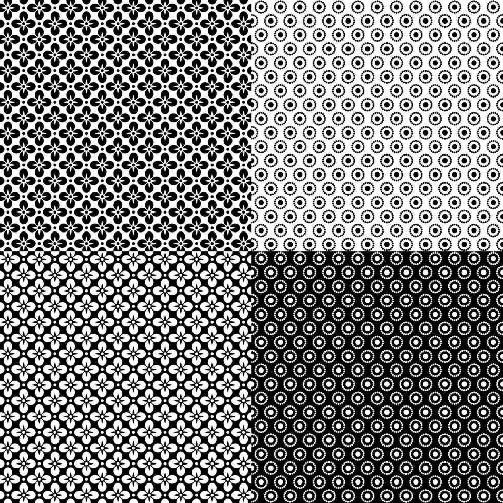 patrones geométricos retro inconsútiles vector